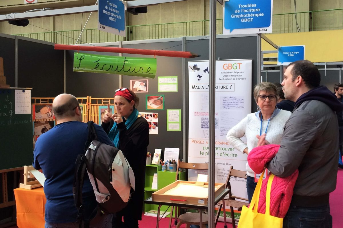 Le stand du GBGT au Salon de l'Éducation